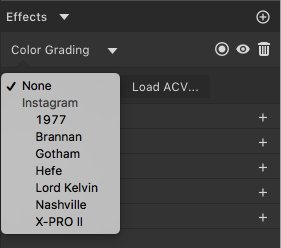 Photo filters like photoshop actions feature requests gravit we currently have a bunch of instagram like photo filters that you can find on effects adjust color grading we might add some more in future updates ccuart Image collections