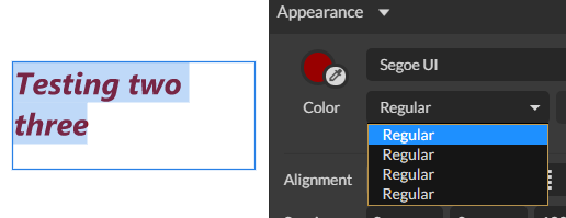Segoe UI System Font on Windows is always in italic for some